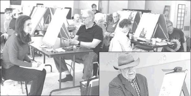 Nelson conducts drawing class at LAC