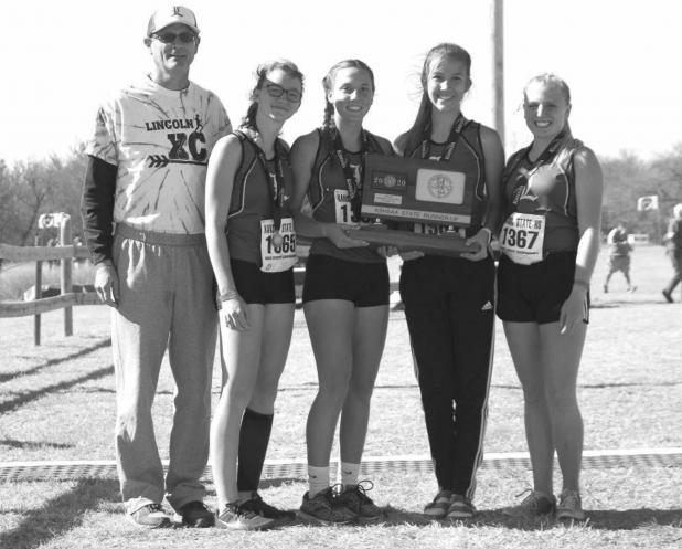 LINCOLN'S GIRLS CROSS COUNTRY TEAM STATE RUNNER-UP