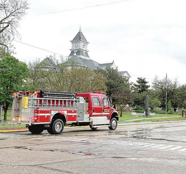 Lincoln County Courthouse struck by lightning