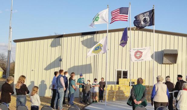 Barnard Flag dedication ceremony held Sunday, November 8