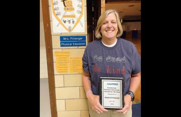 Pittinger named Kansas Elementary PE Teacher of the Year
